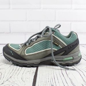 LL Bean Gean Gray Goretex Hiking Sneakers Size 7